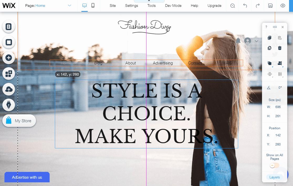 Wix.com design template
